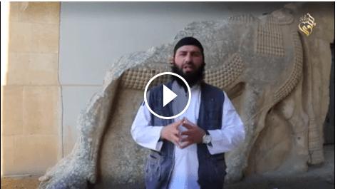 فیلم تکاندهنده تخریب آثار باستانی در موزه نینوا به دست داعش