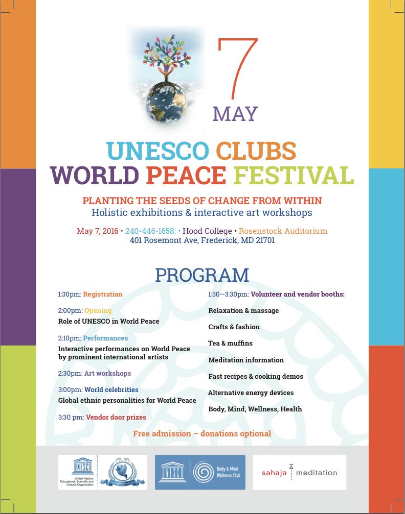 فستیوال صلح یونسکو – هفتم ماه می ۲۰۱۶
