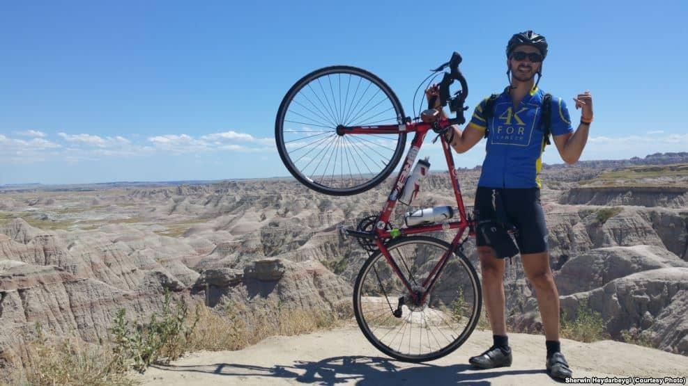 ۷۰ روز دوچرخهسواری «از اطلس تا آرام» بر ضد سرطان