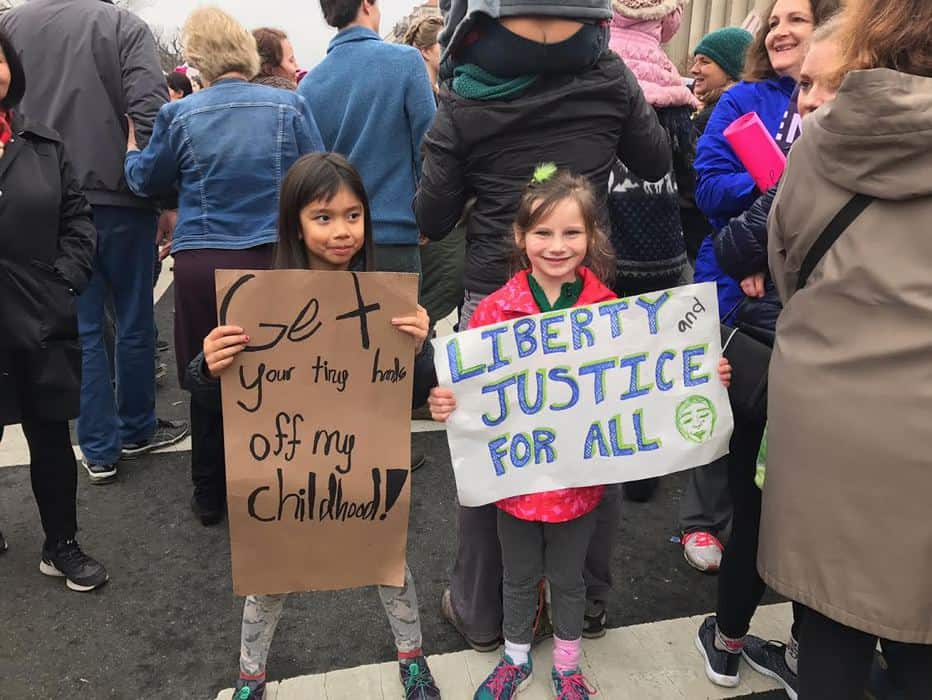 تظاهرات گسترده مدافعان حقوق زنان در واشنگتن